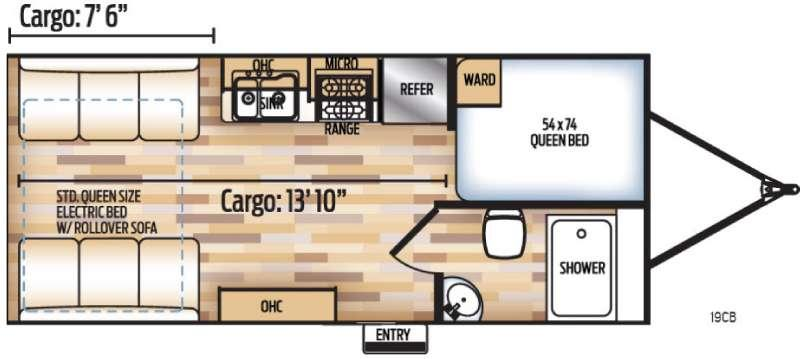 Adrenaline 19CB Floorplan Image