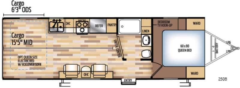 Floorplan - 2017 Coachmen RV Adrenaline 25QB