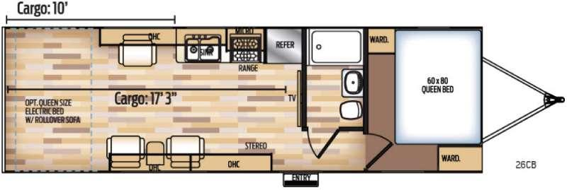 Floorplan - 2017 Coachmen RV Adrenaline 26CB