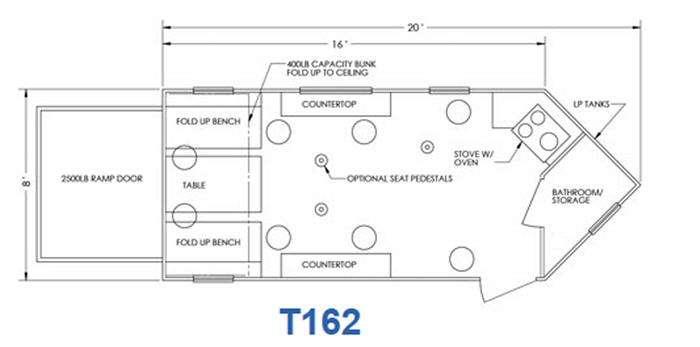 Glacier T162 Floorplan Image