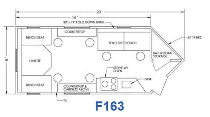 Glacier F163 Floorplan Image