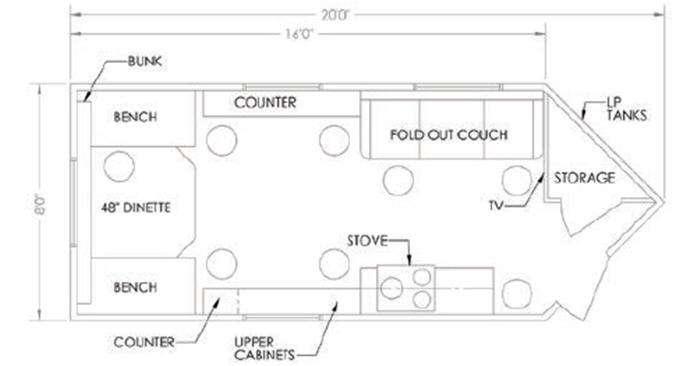 Glacier A164RD Floorplan Image