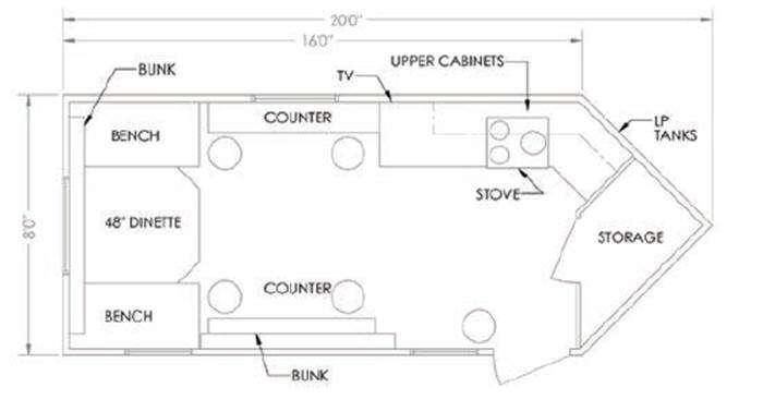 Glacier A165RD Floorplan Image