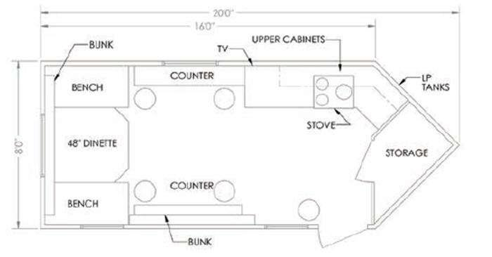 Glacier A816RD Floorplan Image