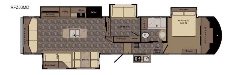 Floorplan - 2017 CrossRoads RV ReZerve RFZ38MD