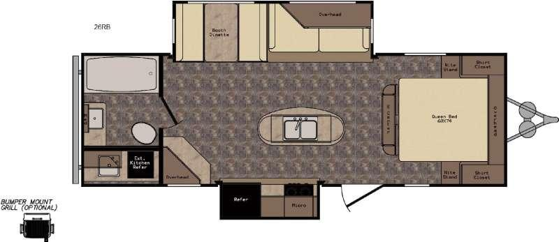 Floorplan - 2017 CrossRoads RV ReZerve RTZ26RB