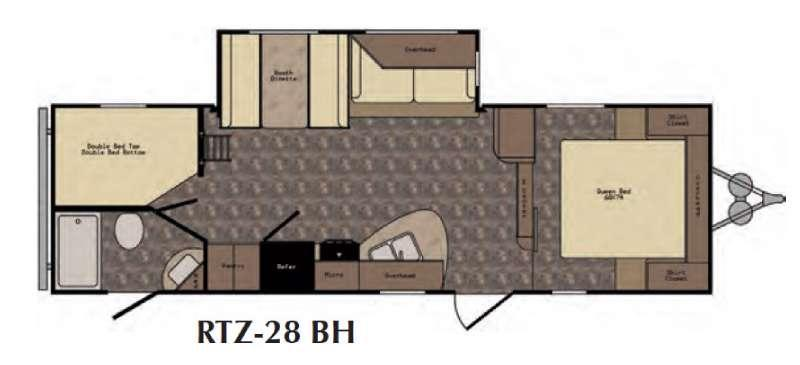 Floorplan - 2017 CrossRoads RV ReZerve RTZ28BH