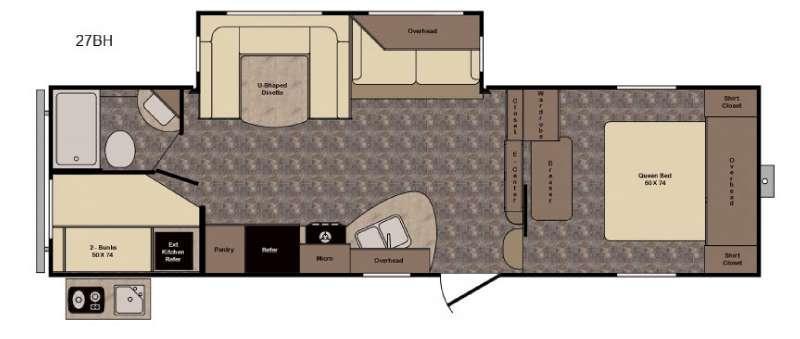 Floorplan - 2017 CrossRoads RV Longhorn ReZerve LFZ27BH