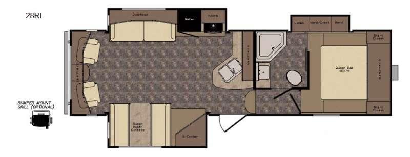 Longhorn ReZerve LFZ28RL Floorplan Image