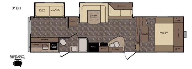 Longhorn ReZerve LFZ31BH Floorplan Image