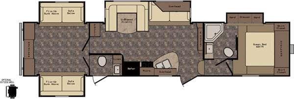 Longhorn ReZerve LFZ36DB Floorplan Image