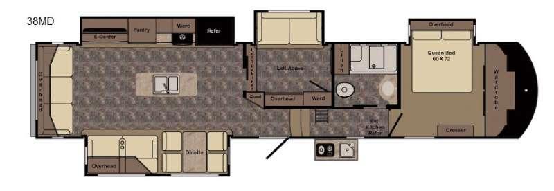 Longhorn ReZerve LFZ38MD Floorplan Image