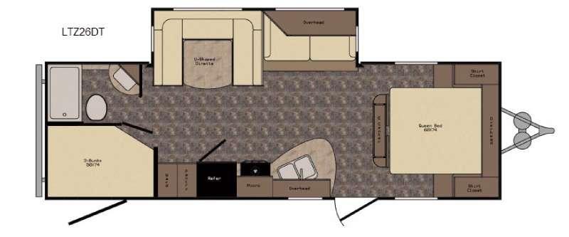 Longhorn ReZerve LTZ26DT Floorplan Image