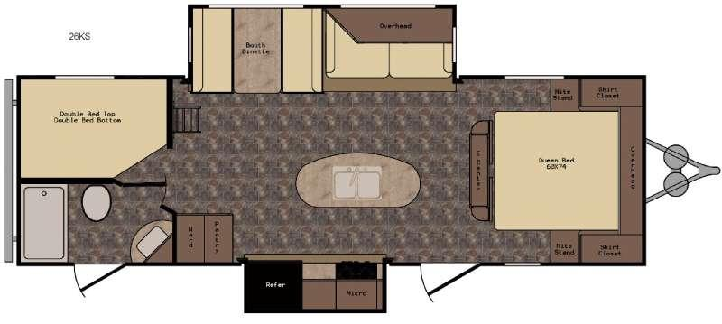 Longhorn ReZerve LTZ26KS Floorplan Image