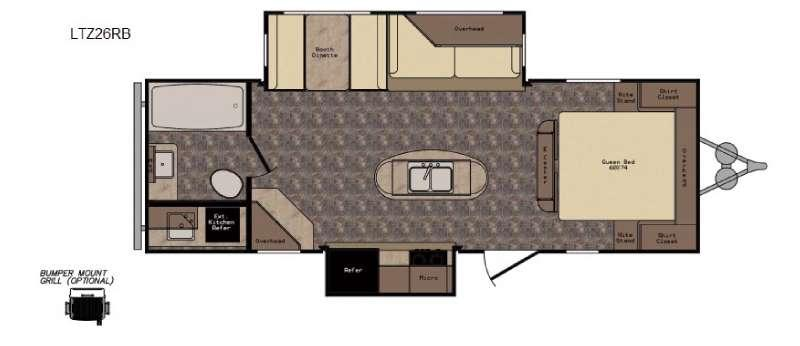 Longhorn ReZerve LTZ26RB Floorplan Image