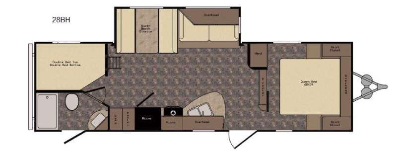 Longhorn ReZerve LTZ28BH Floorplan Image
