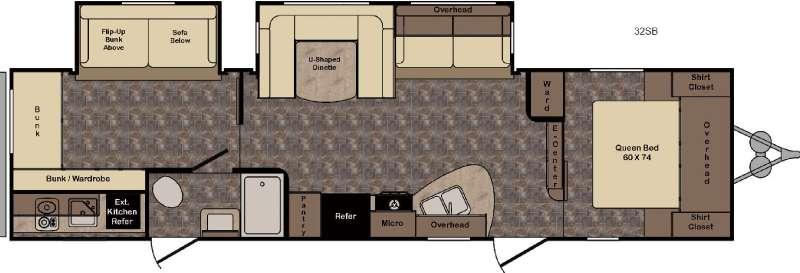 Longhorn ReZerve LTZ32SB Floorplan Image