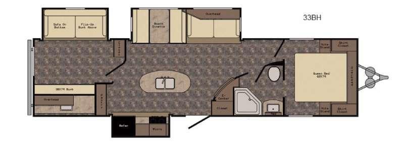 Longhorn ReZerve LTZ33BH Floorplan Image