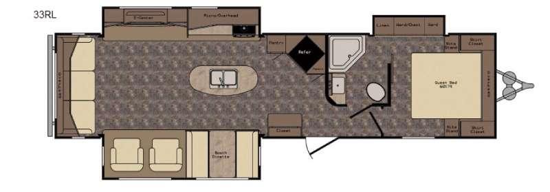 Longhorn ReZerve LTZ33RL Floorplan Image