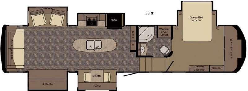 Redwood 38RD Floorplan Image