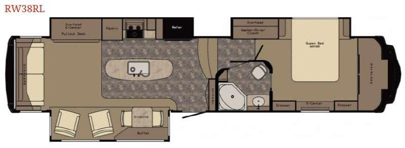 Floorplan - 2017 Redwood RV Redwood 38RL