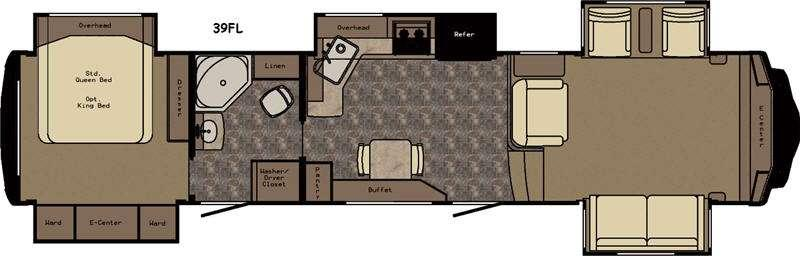 Floorplan - 2017 Redwood RV Redwood 39FL