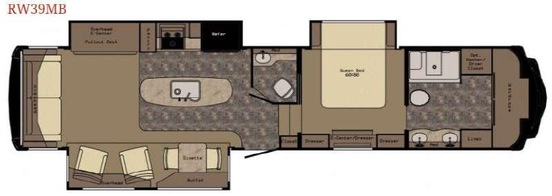 Floorplan - 2017 Redwood 39MB Fifth Wheel