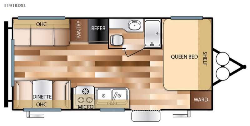 Floorplan - 2017 Forest River RV Wildwood X-Lite 191RDXL