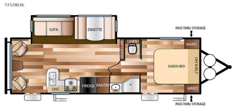 Wildwood X-Lite 252RLXL Floorplan Image