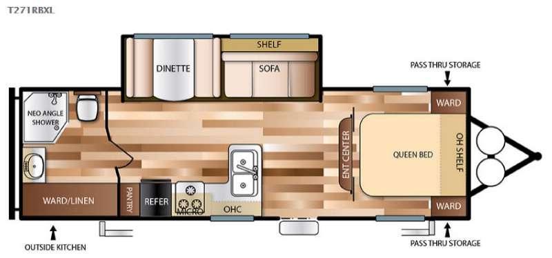 Wildwood X-Lite 271RBXL Floorplan Image