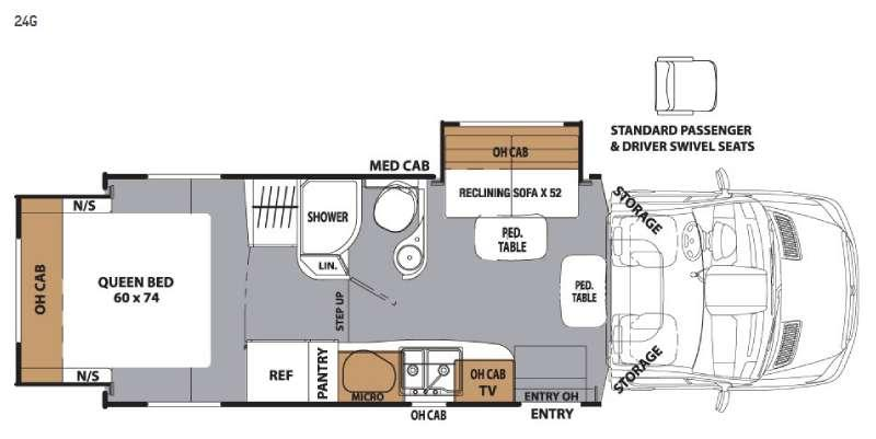 Floorplan - 2017 Coachmen RV Prism 24G