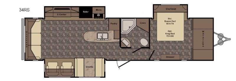 Floorplan - 2016 CrossRoads RV Longhorn LHT34RS Texas Edition