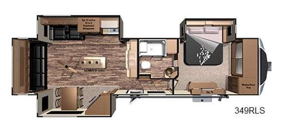 Open Range 3X 349RLS Floorplan Image