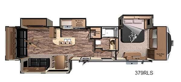 Open Range 3X 379RLS Floorplan Image