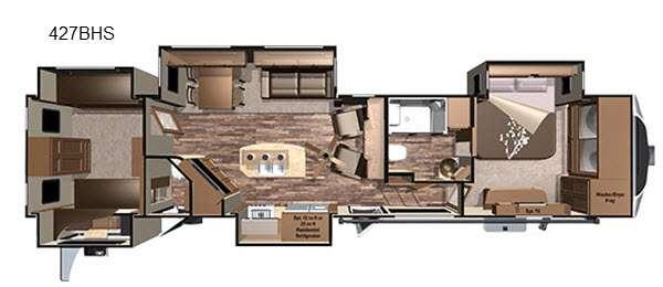 Floorplan - 2017 Highland Ridge RV Open Range 3X 427BHS