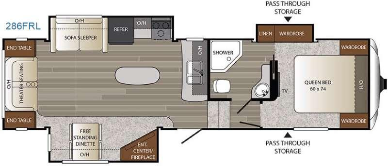 Floorplan - 2017 Keystone RV Outback 286FRL