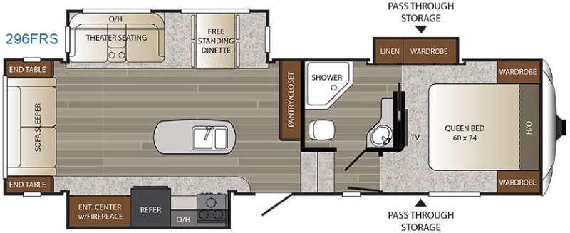 Outback 296FRS Floorplan Image