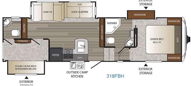 Floorplan - 2017 Keystone RV Outback 318FBH