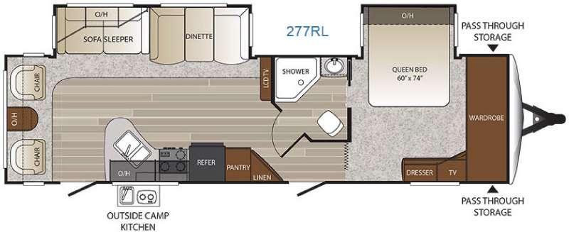 Floorplan - 2017 Keystone RV Outback 277RL