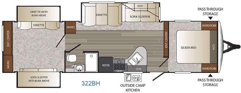 Floorplan - 2017 Keystone RV Outback 322BH