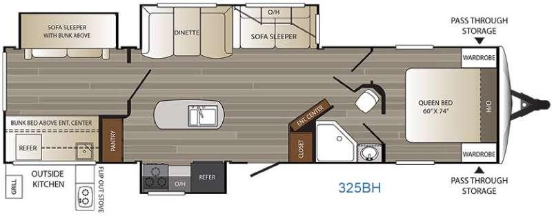 Floorplan - 2017 Keystone RV Outback 325BH