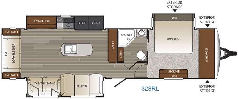 Floorplan - 2017 Keystone RV Outback 328RL