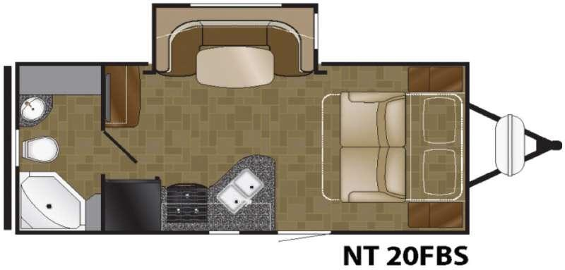 Floorplan - 2017 Heartland North Trail 20FBS