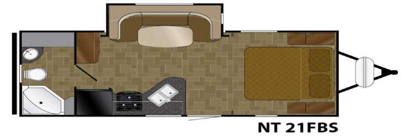 Floorplan - 2017 Heartland North Trail 21FBS