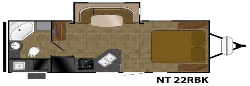 North Trail 22RBK Floorplan Image