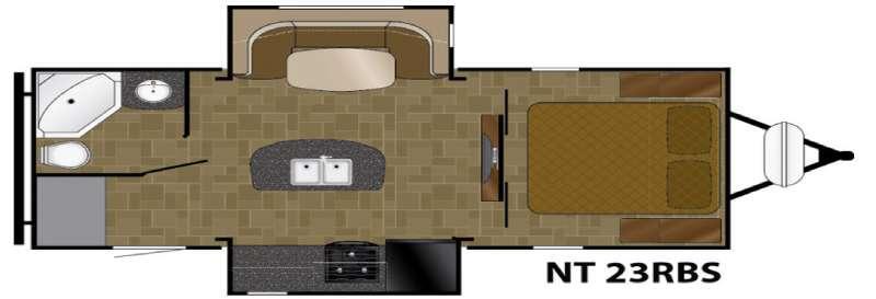 North Trail 23RBS Floorplan Image