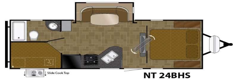 North Trail 24BHS Floorplan Image