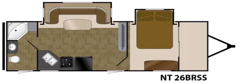 North Trail 26BRSS King Floorplan Image