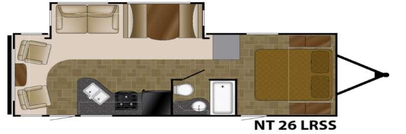 North Trail 26LRSS King Floorplan Image