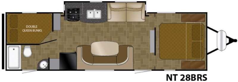 North Trail 28BRS Floorplan Image